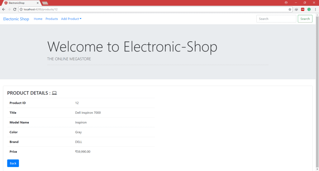 Electronic-shop : Product Details