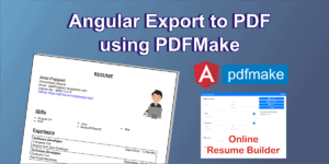 Angular 8 Export to PDF Using Pdfmake